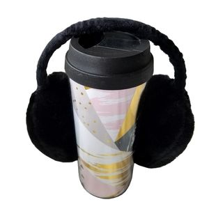 🆕Justin & Taylor Travel Mug and Ear Muffler Set
